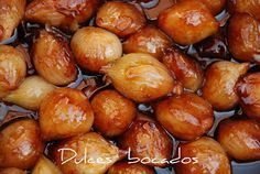 Dulces bocados: Cebollitas caramelizadas Onion Recipes, Mexican Food Recipes, Spanish Cuisine, Tapas, Appetizers For Party, Chutney, Side Dishes, Food And Drink, Cooking Recipes
