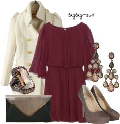 """""""Winter Wedding Date"""" by taytay-268 on Polyvore"""