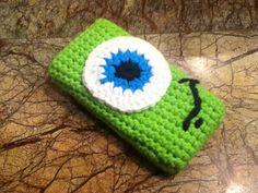 Mike - Monster Inc. Crochet iPhone Case on Etsy, $15.00