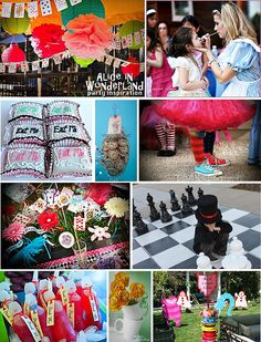 Alice in Wonderland childrens theme party