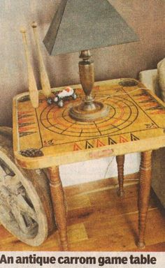 1970s Carrom game board table? DIY | via kyle crews