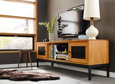 $1,299 | Linear Media Cabinets with Steel Base - Media Storage - Living - Room & Board