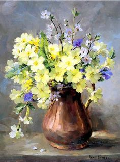 Oil painting Flowers art easy watercolor flowers for beginners paintings of roses by famous artists transparent yellow oil paint black and white flower art Art Floral, Easy Watercolor, Watercolor Flowers, Watercolor Paintings, Art Paintings, Simple Oil Painting, Oil Painting Flowers, Primroses, Beautiful Paintings
