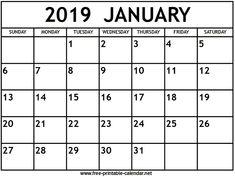 January 2019 Calendar 8x11 292 Best 2019 Monthly Calendar images | Yearly calendar, Calendar