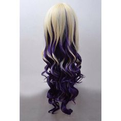 Poison Blonde Blonde to Dark Purple Ombre Wig (Lolita, Cosplay,... ($47) ❤ liked on Polyvore featuring beauty products, haircare and hair styling tools