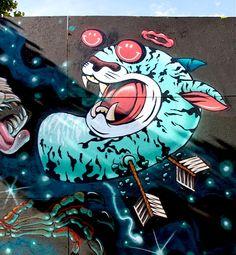 Streetart: Nychos x DXTR New Mural in Copenhagen // Denmark (16 Pictures)