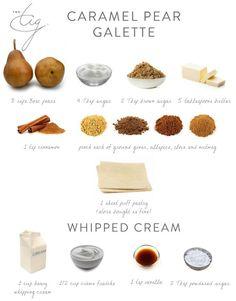 Caramel Pear Galette - The Tig Fall Recipes, New Recipes, Baking Recipes, Holiday Recipes, Dessert Recipes, Desserts, Caramel Pears, The Tig, Web Design