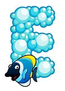 "Photo from album ""Морской"" on Yandex. Cartoon Crazy, Girl Cartoon, Juegos Baby Shower Niño, Bubble Alphabet, Disney Princess Toddler, Alfabeto Animal, Scrapbook Letters, Preschool Decor, Underwater Animals"