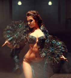 (bird/feather) belly dancing costume