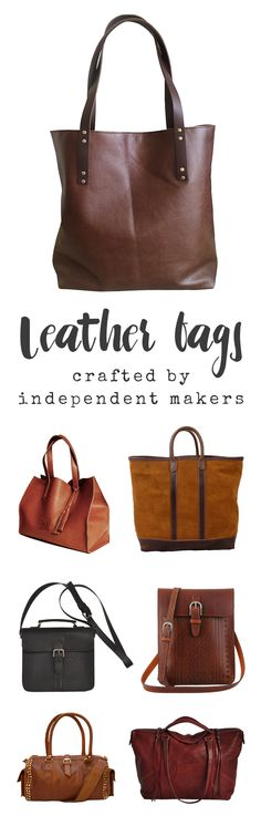 Shop our collection of maker-made leather bags, totes, clutches, and purses.