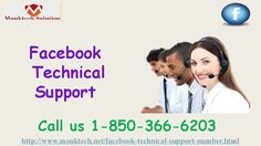 Is it precise to state that you are endeavoring to find Facebook Technical Support 1-850-366-6203? If you are trying to find the Facebook Technical Support then you need to place a call at 1-850-366-6203 and get the following services:- • Consultation and instructional services. • Are you unable to find friends on Facebook? • Share YouTube videos on Facebook isn't even a task? For more information visit: http://www.monktech.net/facebook-technical-support-number.html""