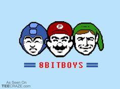 8-Bit Boys T-Shirt - http://teecraze.com/8-bit-boys-t-shirt/ -  Designed by Pengew    #tshirt #tee #art #fashion #TCRZ #clothing #apparel