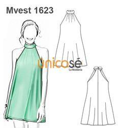 Ùnicosé La Moldería - Best Sewing Tips Sundress Pattern, Dress Sewing Patterns, Clothing Patterns, Sewing Lessons, Sewing Hacks, Sewing Projects, Diy Clothing, Sewing Clothes, Doll Clothes