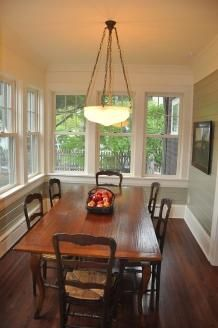 dining room on enclosed porch
