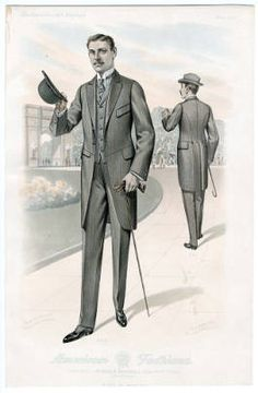1914 Men's suit- natural fit, shoulders became more narrow. A slight waist definition emerges unlike the box silhouette from previous years. 1960s Fashion, Mens Fashion, Incredible Film, Jeweled Headband, Diy Art Projects, Costume Institute, Headband Styles, Star Wars Episodes, Fashion Plates