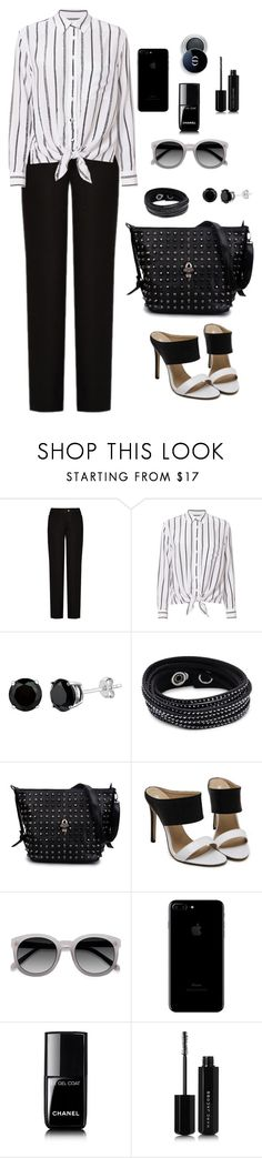 """""""Untitled #1914"""" by ebramos ❤ liked on Polyvore featuring Acne Studios, Equipment, Swarovski, Chanel and Marc Jacobs"""