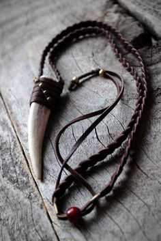 Deer Antler Tip Necklace, Unisex, Boho-Chic, Tribal, Rustic Leather Jewelry, Leather Craft, Boho Jewelry, Jewelery, Jewelry Accessories, Handmade Jewelry, Jewelry Design, Jewelry Shop, Mens Leather Necklace