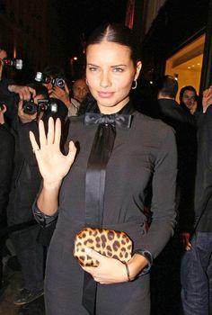Adriana Lima's style| black