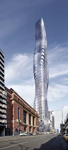 Galeria - Curvas de Beyonce servem de inspiração para torre de Elenberg Fraser em Melbourne - 5
