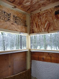1000 images about deer stand on pinterest deer stands for Inside deer blind ideas
