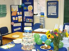 A tasty cake table at the Herefordshire CAB 75th Anniversary party