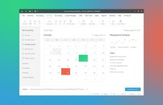 Flat desktop software mobile app accounting manager calendar accounting journal…