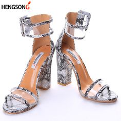 Head over Heels - Transparent Buckle Strap Thick Heel Women Sandals Thick Heels, Chunky Heels, Women's Pumps, Pump Shoes, High Shoes, Women's Shoes, Gladiator Shoes, Super High Heels, Party Shoes