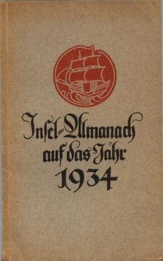Insel-Almanach auf das Jahr 1934. Den Umschlag zeichnete Rudolf Koch.