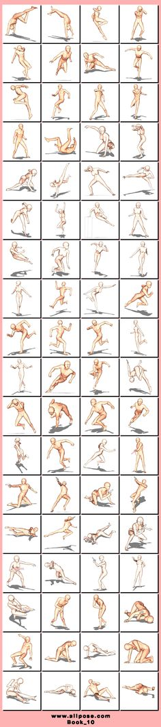 Poses. Action poses! LOVE it! Wish I'd had this chart when I was learning to draw! You're welcome! ;)