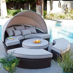 Have to have it. Rendezvous All-Weather Wicker  Sectional Daybed  $1499.99