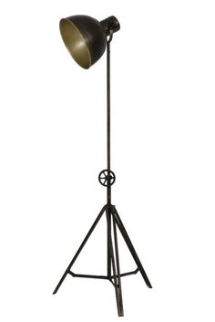 Triv Jolos Vloerlamp driepoot Zwart - 62x62x153-220 cm Desk Lamp, Table Lamp, Lights, House, Cinema, Decoration, Home Decor, Workshop, Decor