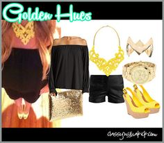 Golden Hues - Yellow and gold accessories with black