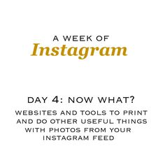 things to do with your instagram photos