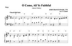 $1.50 Harp Music: O Come, All Ye Faithful (Adeste Fideles) for Harp