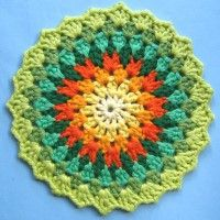 Crochet Mandala Wheel made by Lynn, Cumbria, UK for yarndale.co.uk