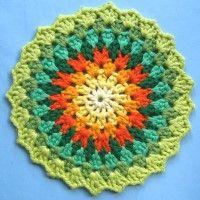 Crochet Mandala Wheel made by Lynn, Cumbria, UK for yarndale.co.uk