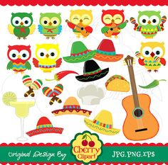 Cinco de Mayo Owl Clipart Clip Art, Happy Cinco de Mayo Cowboy ...