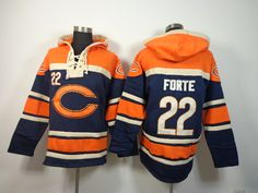 Men's NFL Chicago Bears FORTE Jersey #22 Hooded Sweatshirt prices USD $40.00 #cheapjerseys #sportsjerseys #popular jerseys #NFL #MLB #NBA
