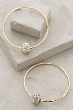 Jeweled Orbit Hoops #Anthropologie