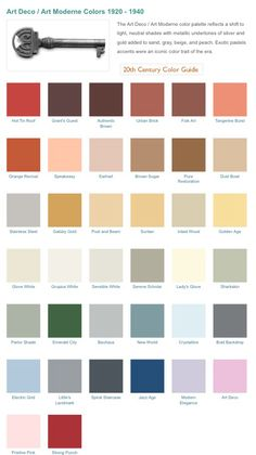 Art Deco Color Palette