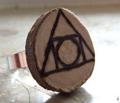 Ring Holz 'Philosopher's Stone'