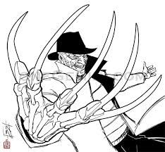 Adult Coloring Page Murderous Ghost