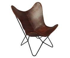 Stoel Jase, bruin/zwart, H 92 cm