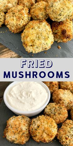 Fried mushroom recipe that's easy and delicious! Made in the air fryer, these are a healthy snack! Fried mushroom recipe that's easy and delicious! Made in the air fryer, these are a healthy snack! Air Fryer Recipes Breakfast, Air Fryer Oven Recipes, Air Fryer Dinner Recipes, Snack Recipes, Easy Recipes, Deep Fryer Recipes, Air Fryer Recipes Appetizers, Air Fryer Recipes Vegetables, Air Fryer Recipes Vegetarian
