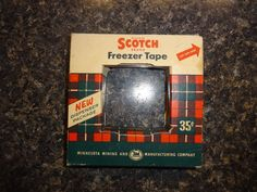 Rare 1950's Original Scotch Brand Freezer Tape 35¢ #Scotch