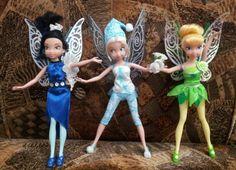 Silvermist , Periwinkle & Tinkerbell dolls