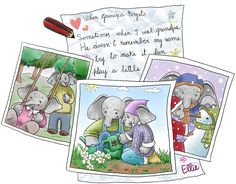 The Forgetful Elephant by Irene Mackey  The story is about a little elephant called Ellie who is going to visit her Grandparents & she is a bit upset because the last time she saw her Grandpa he couldn't remember her. Her mummy, Mrs Trunk, explains to her in a way that she can understand, the reason why Grandpa is forgetting things now. Ellie also finds ways to help her Grandpa to remember her & at the end of the story she sets off to visit him a much happier little elephant.