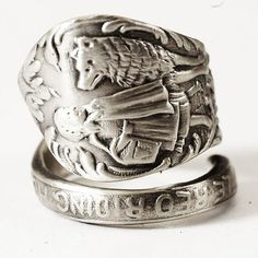 Little Red Riding Hood Sterling Silver Spoon Ring by Spoonier, $69.00