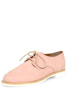Leighton Peach lace up brogues