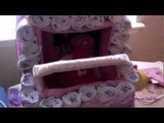 Diaper Stroller Cake (baby & water bottles)